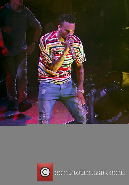 Chris Brown celebrates his birthday at Drais nightclub