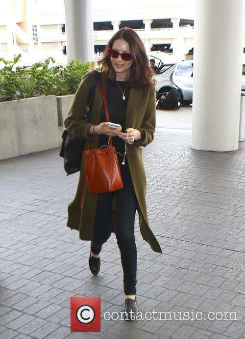 Caitriona Balfe at Los Angeles International Airport