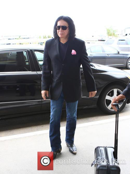 Gene Simmons at Los Angeles International Airport