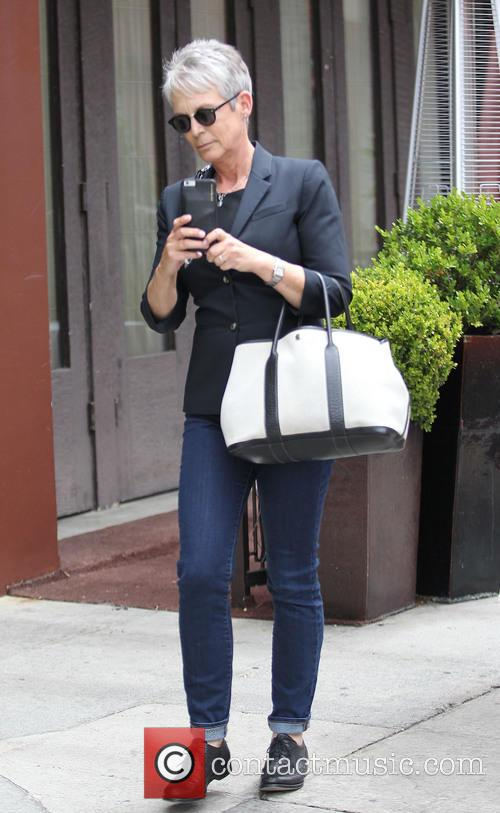 Jaime Lee Curtis out in Beverly Hills