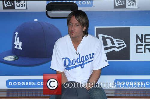 Keith Urban at Los Angeles Dodgers v New...