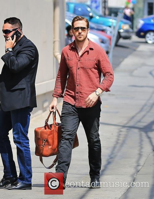 Ryan Gosling arrives for his appearance on 'Jimmy...