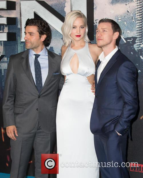 Jennifer Lawrence, Oscar Isaac and James Mcavoy
