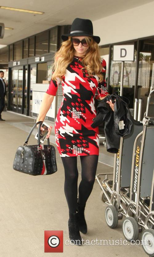 Paris Hilton at at Los Angeles International Airport