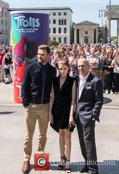 Justin Timberlake, Anna Kendrick and Jeffrey Katzenberg 4
