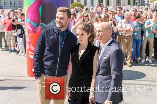 Justin Timberlake, Anna Kendrick and Jeffrey Katzenberg 6