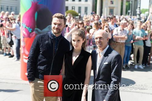Justin Timberlake, Anna Kendrick and Jeffrey Katzenberg 8