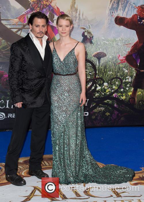 Mia Wasikowska and Johnny Depp 8