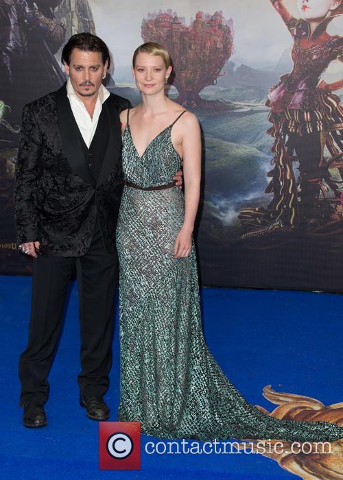 Mia Wasikowska and Johnny Depp 10