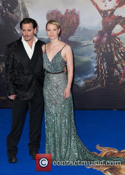 Mia Wasikowska and Johnny Depp