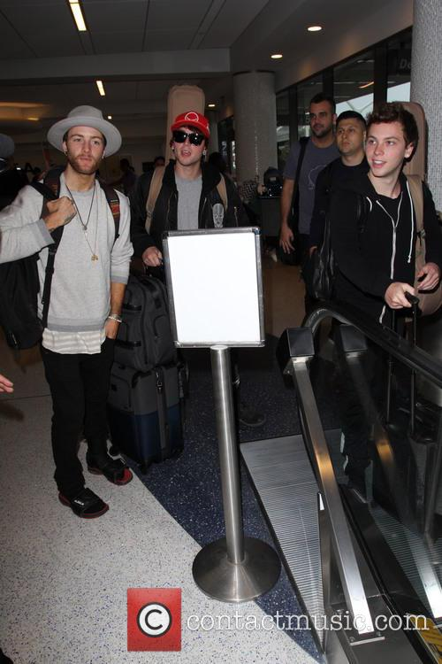 Emblem3 at Los Angeles International Airport