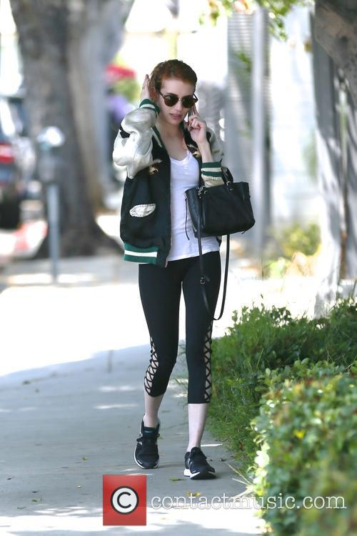 Emma Roberts heading to the gym