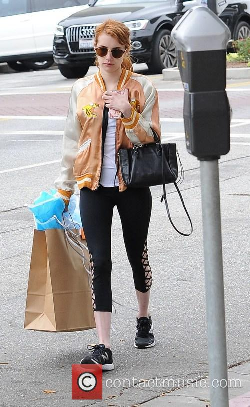 Emma Roberts out shopping