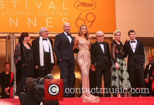 Corey Stoll, Blake Lively, Woody Allen, Kristen Stewart and Jesse Eisenberg 3