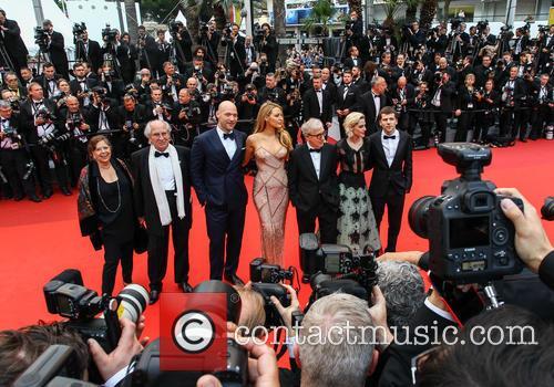 Corey Stoll, Blake Lively, Woody Allen, Kristen Stewart and Jesse Eisenberg 8