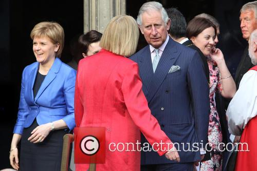 Prince Charles, Duke Of Rothesay and Trica Marwick Presiding Officer Of The Scottish Parliament 8