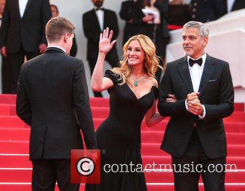 Julia Roberts, George Clooney and Jack O'connell 2