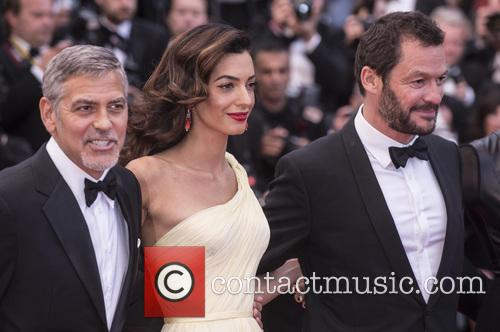 George Clooney, Amal Clooney and Domonic West 1