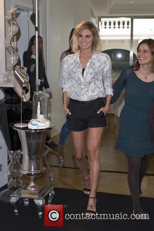 Amaia Salamanca attends a presentation for Braun