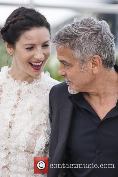 Caitriona Balfe and George Clooney 10