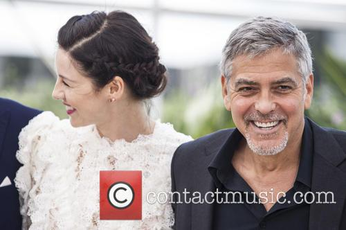 Caitriona Balfe and George Clooney 11