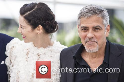 Caitriona Balfe and George Clooney