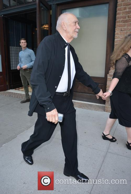 Frank Langella leaving his hotel in New York