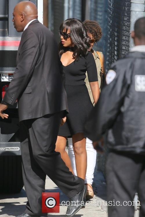Kerry Washington arriving at ABC studios