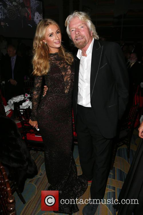 Paris Hilton and Richard Branson