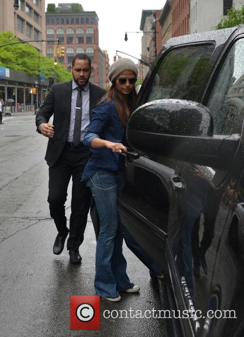 Camila Alves spotted out in SoHo with her...