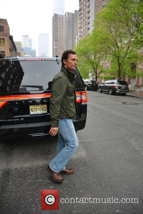 Matthew McConaughey leaves The Greenwich Hotel in Tribeca