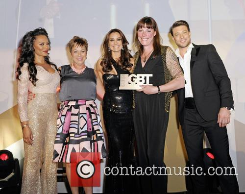 Melanie B, Denise Welch, Melanie Sykes, Rebecca Root and Duncan James 4