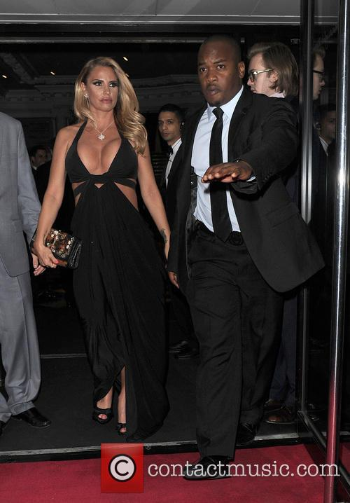 Katie Price departs The Groucho Club in Soho...