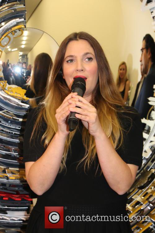Drew Barrymore attends Godiva's 90th anniversary party at...