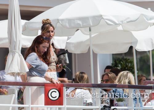 Ferne McCann spotted at Hôtel du Cap-Eden-Roc with...