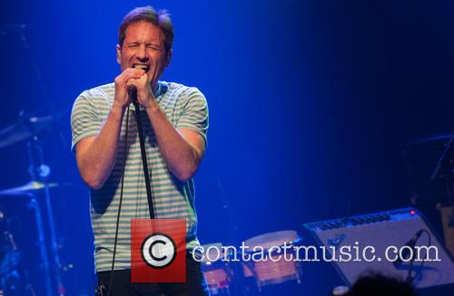 David Duchovny performing his new album 'Hell or...