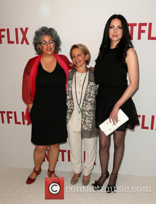 Jenji Kohan, Gabrielle Carteris and Laura Prepon 1