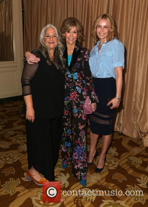 Marta Kauffman, Jane Fonda and Chelsea Handler 2