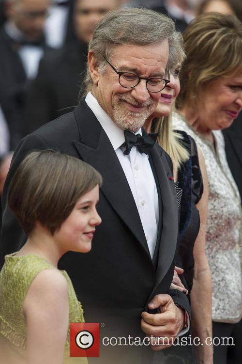 Ruby Barnhill and Steven Spielberg 3