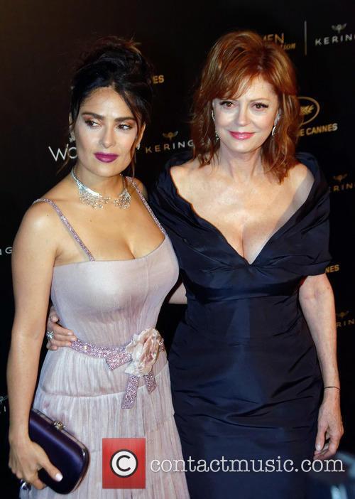 Susan Sarandon and Salma Hayek