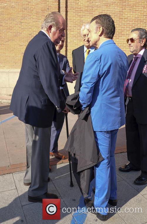 Juan Carlos I attends the Fiesta de San...