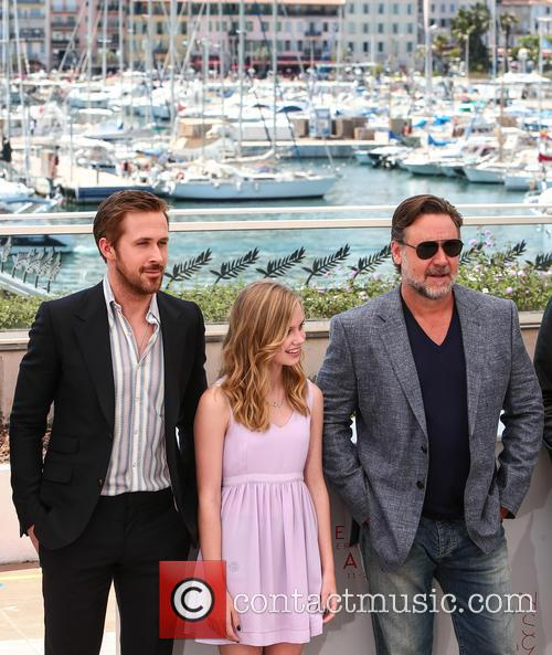 Ryan Gosling, Angourie Rice and Russell Crowe 2