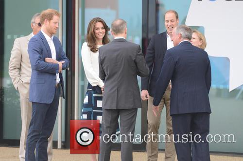 The Duke and Duchess of Cambridge and Prince...