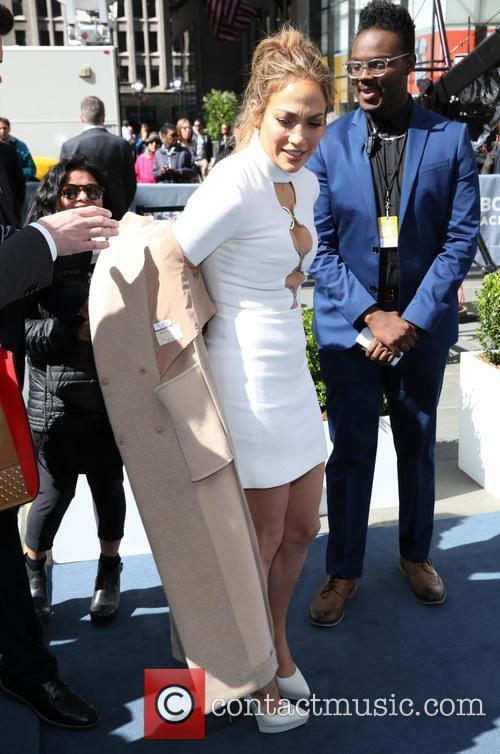 Jennifer Lopez at nbc universal upfront ny