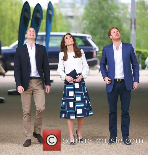 Prince William, Catherine Duchess Of Cambridge and Prince Harry 2