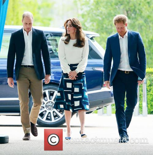 Prince William, Catherine Duchess Of Cambridge and Prince Harry 6
