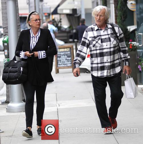 Rutger Hauer and his wife go shopping in...