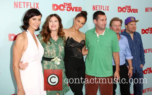 Catherine Bell, Kathryn Hahn, Paula Patton, Adam Sandler, David Spade and Nick Swardson 2