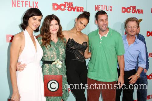 Catherine Bell, Kathryn Hahn, Paula Patton, Adam Sandler, David Spade and Nick Swardson 4