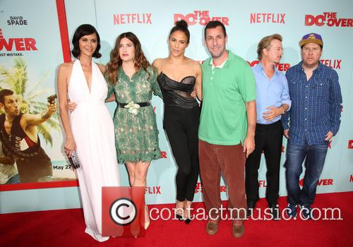 Catherine Bell, Kathryn Hahn, Paula Patton, Adam Sandler, David Spade and Nick Swardson 6